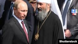 Владимир Путин и митрополит Онуфрий, Киев, 27 июля 2013 года