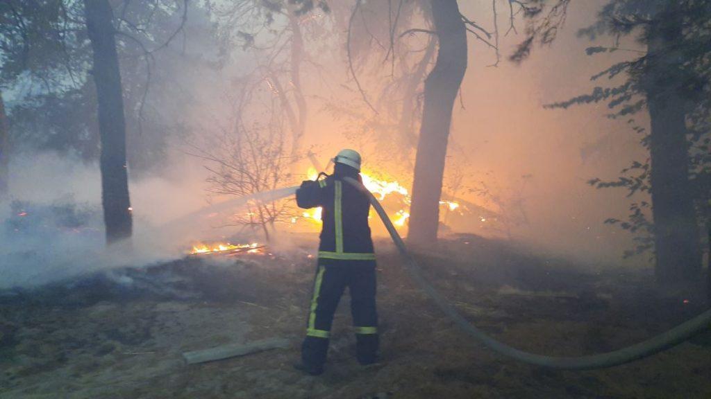 У ДСНС розповіли про кількість осередків пожеж на Луганщині