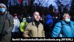 Активісти протестували проти дій влади Зеленського під лікарнею «Феофанія» в Києві