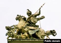 Скульптура Пінзеля «Святий Юрій Змієборець»