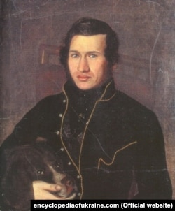 Євген Гребінка був першим перекладачем «Полтави» на українську мову. Портрет Аполлона Мокрицького, 1833 рік