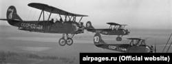 Літати мій дідусь розпочинав на навчально-тренувальному літакові У-2