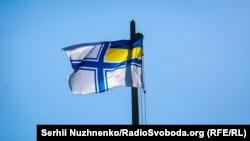 Сто років українському Чорноморському флоту: в Києві підняли прапор ВМС (фотогалерея)