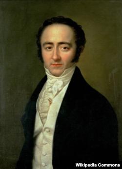 Портрет Франца Ксавера Моцарта художника Карла Ґоттліба Швейкарта, написаний у 1825 році. Якраз тоді Моцарт-молодший жив і праював у Львові