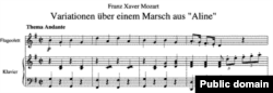 Ноти музики, написаної Францом Ксавером Моцартом