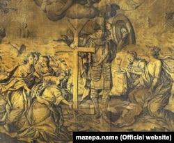 Фрагмент гравюри «Апофеоз Мазепи», 1708 рік. Автор: Данило Ґаляховський