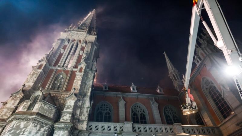 У МВС назвали попередню причину пожежі в костелі Святого Миколая